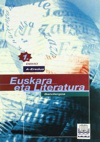 Euskara Eta Literatura 1 Batxilergoa