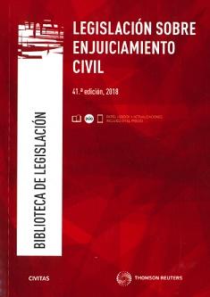 Legislación Sobre Enjuiciamiento Civil (41ª - 2018)